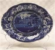 "Historical Blue Staffordshire Platter ""Gubbins"