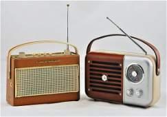 Two portable radios