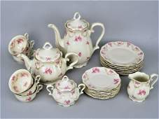Extensive coffee/tea service, 6 persons