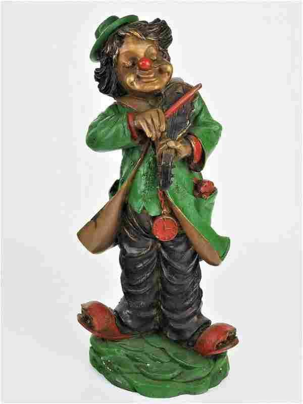 Bronze figure, Clown as a violin player