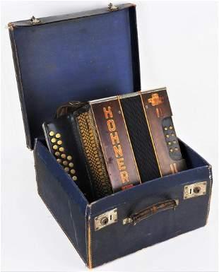 Hohner button accordion, 20s.
