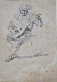 Friedrich Nerly (1807, Erfurt - 1878, Venice) - Drawing