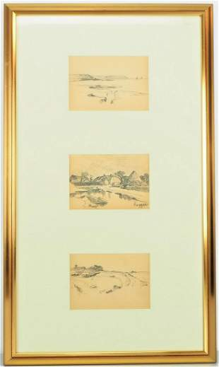 """Joseph Scharpf (Biberach 1847 - c. 1930) - """"Three"""