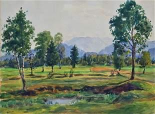 Emil Paul Börner (1888-1970, Meissen) - watercolor