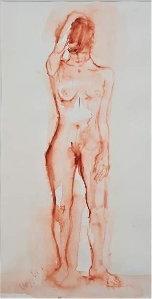 Eva Nagy (1921, Aiud - 2003, Vienna) - female nude.