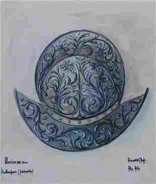 Watercolor, Renaissance helmet