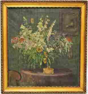 Karel Schadt (1888-1955, Pribram) - Large floral still
