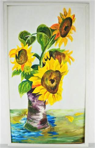Large painting Sunflowers