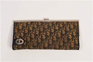 Christian Dior Navy trotter Long Wallet