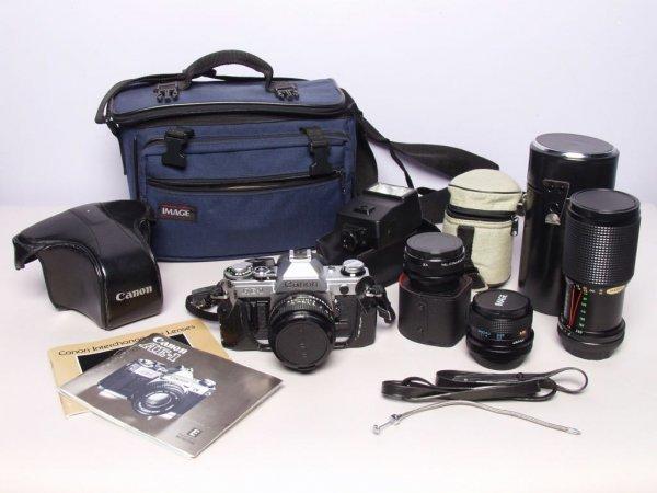 5: Canon Camera with Attachments