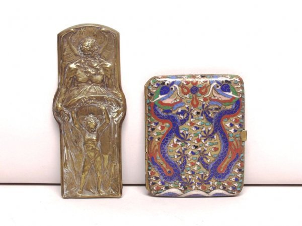 402: Cigarette Case and Brass Plaque