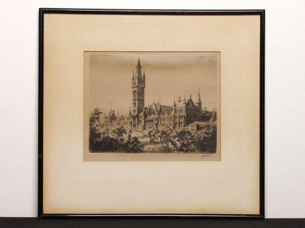 408: Vintage Pencil Signed Engraving