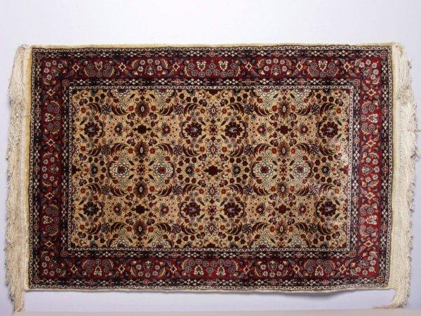 415: Persian Miniature Silk Rug