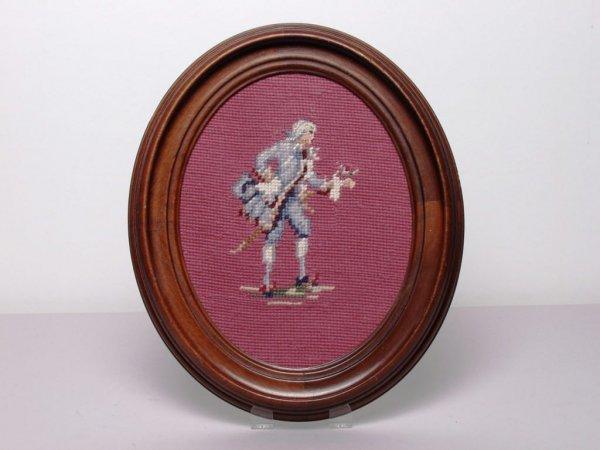 421: Decorative Art: Oval Framed Needle Work