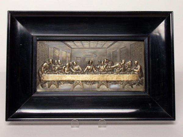 422: Victorian Metal Plaque - Last Supper