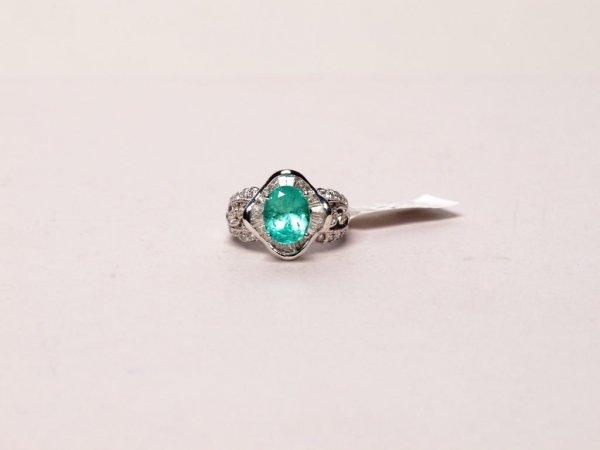 426: Jewelry: Emerald and Diamond Ring
