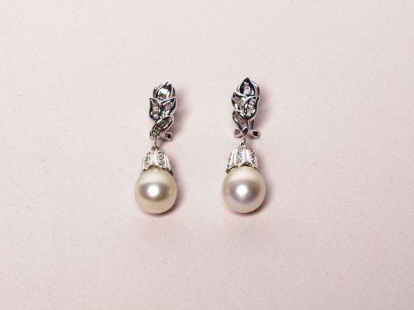 428: South Sea Pearl and Diamond Earrings