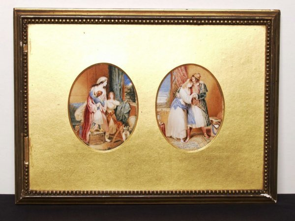 447: 19th C. Miniature Oils