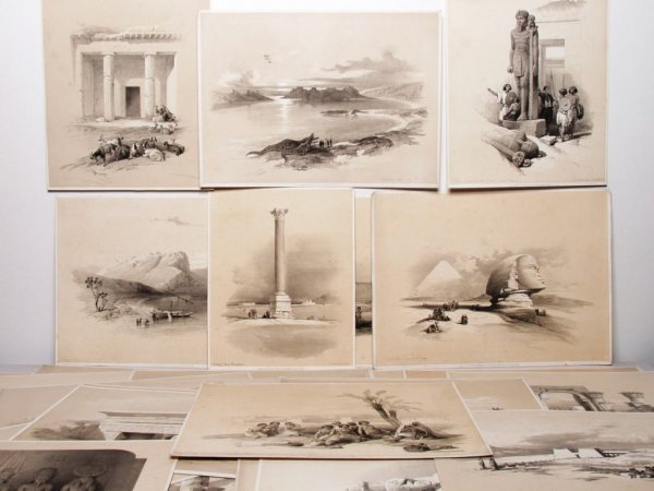 603: Lot of Vintage Lithographs