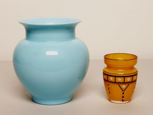 8: Two Antique Glass Vases