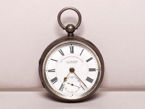 18: Sterling Silver Cased Pocket Watch
