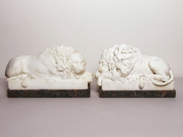 117: European Marble Carvings of Lions