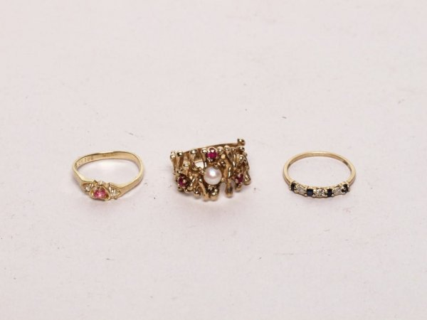 401: Estate Jewelry: 3 Gold Rings