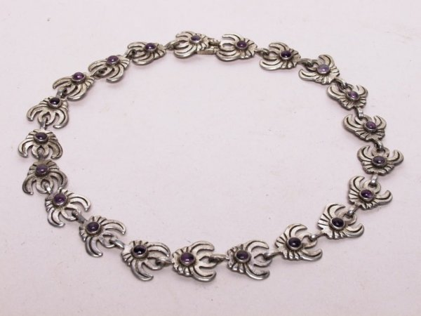 402: Mexican Taxco Sterling Necklace