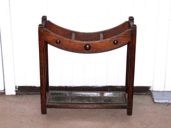 404: Furnishings: Vintage Oak Umbrella Stand