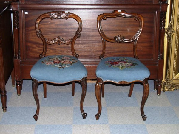 405: Furniture: Two Victorian Side Chairs