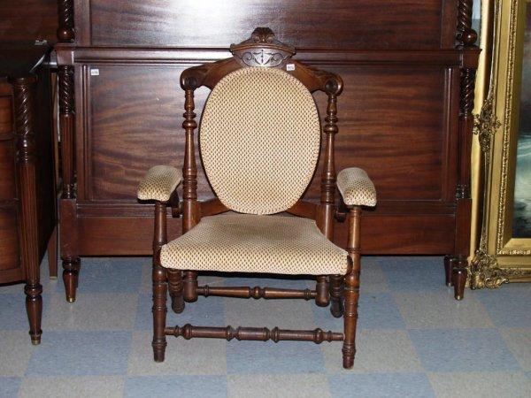 406: Furniture: Victorian Folding Armchair