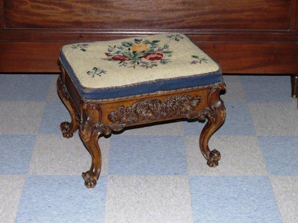 407: Furnishings: Antique Foot Stool