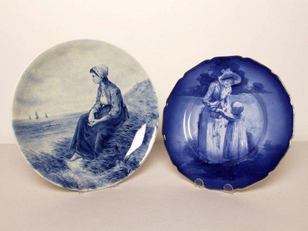 418: Delft Painted Dish Signed Artz