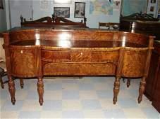 457: Late Georgian Burl Wood Veneered Buffet