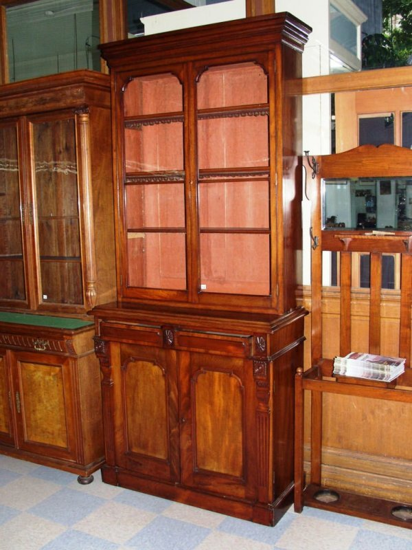 465: Early Victorian Book Case Cabinet