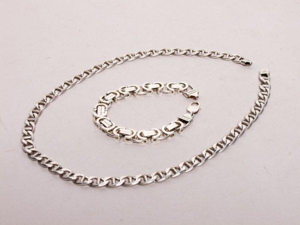 2: Sterling Silver Necklace and Bracelet