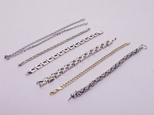 3: Sterling Silver Bracelets and Necklace
