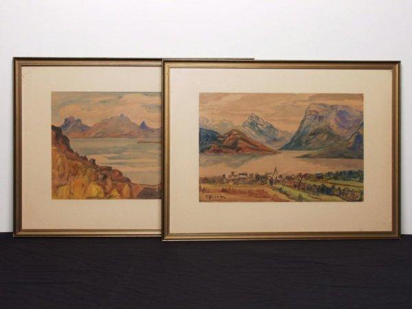 19: A Pair of Norwegian Watercolours