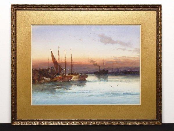 24: British Watercolour Signed J. Hill