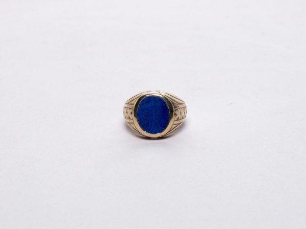 305: Estate Jewelry: 14K Gold Lapis Lazuli Ring