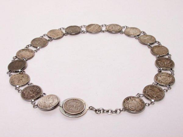 308: Silver Dollar Coin Belt
