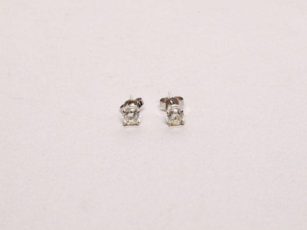 309: Estate Jewelry: Diamond Stud Earrings