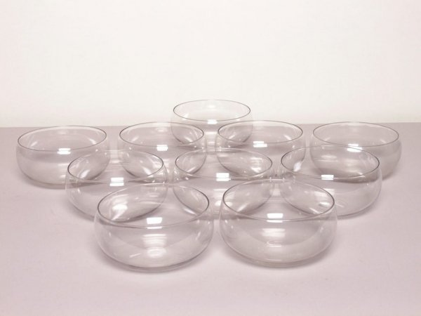 316: Ten British Glass Finger Bowls