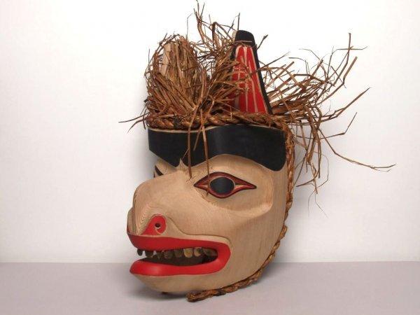 412: Native Art: Bear Mask by Sean Leo - 3