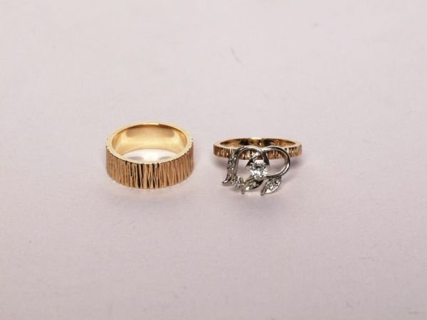 329: Gold and Diamond Engagement Ring