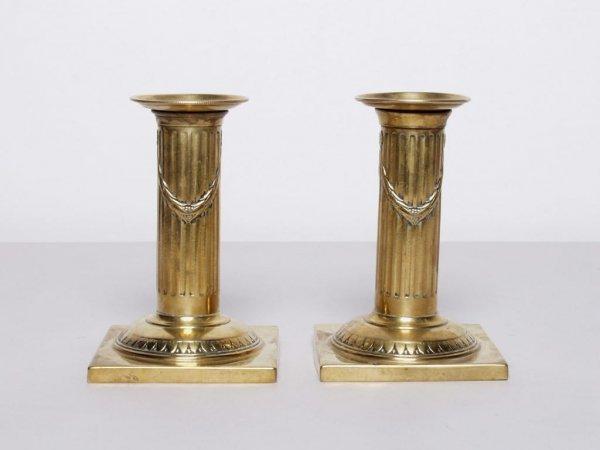 2: Antique British Brass Candlesticks