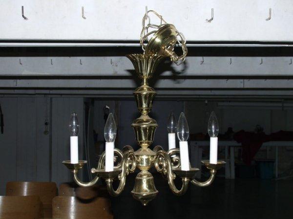 10: Brass Ceiling Light Fixture
