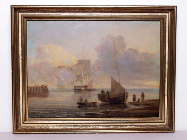 406: 19th C. French Oil Painting