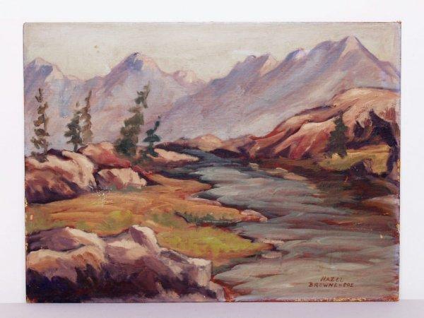 409: Canadian Art Signed Hazel Browne-Coe