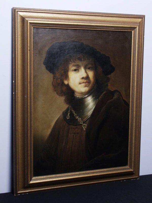 413: Italian Oil on Canvas Ca. 1915